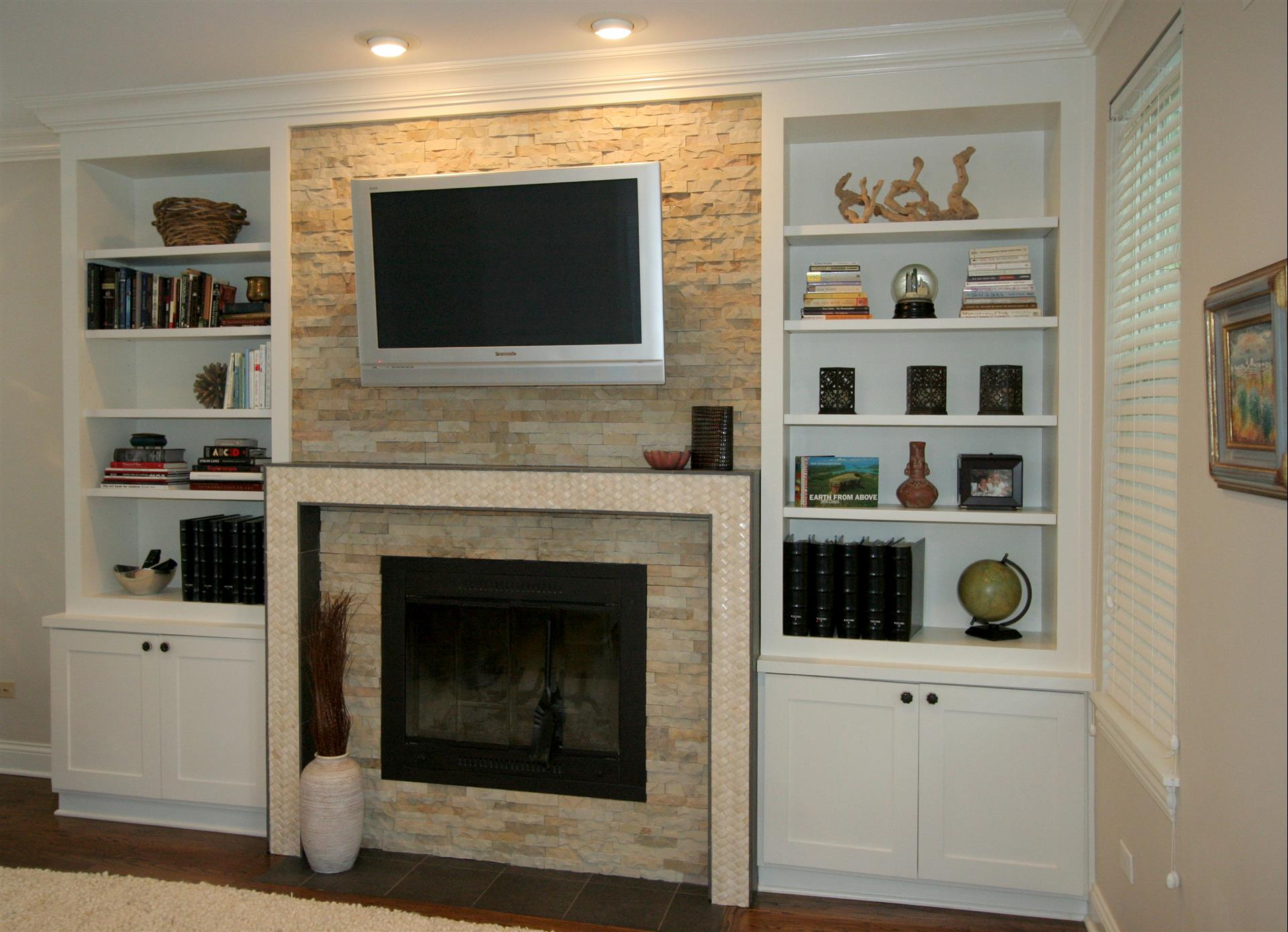 Fireplace Design Chicago, Built-Ins, and Custom Cabinets