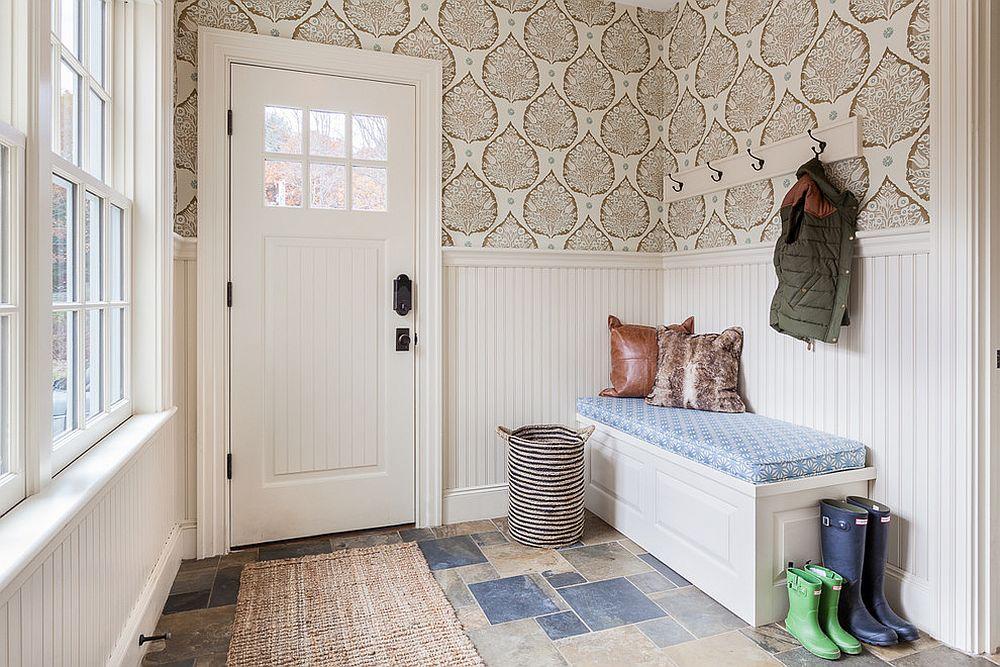 Hallway, Wallpaper, Decor, Hallway design, Wallpaper design