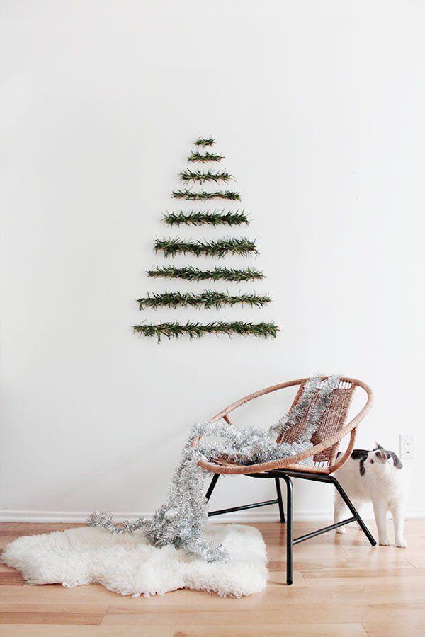wall tree, minimalist christmas tree, minimalist tree, simple decorations, wall hanging, interior decorating
