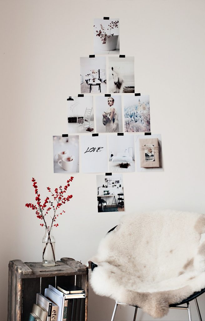 wall tree, minimalist decor, minimalist holiday decor, minimalist Christmas