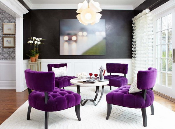 purple, Pantone, color of the year 2018, color of the year, ultra violet, interior design, purple couch, violet