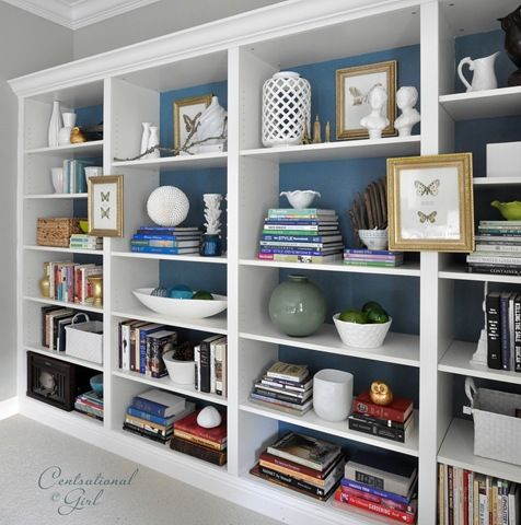 builtin, built in, shelving, book case, built in bookcase, open shelving, bookcase styling