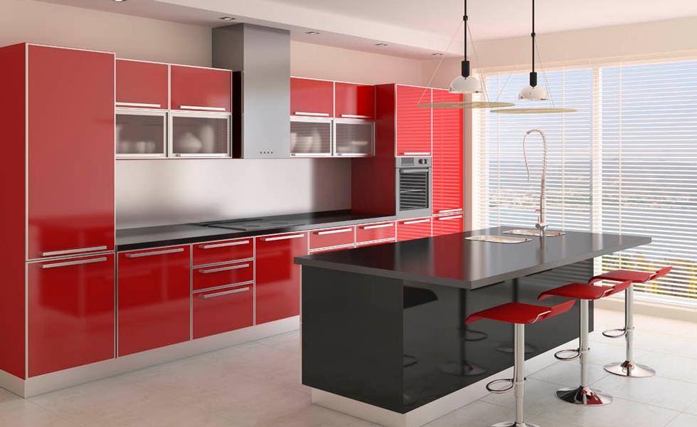 Kitchen Cabinetry High Gloss Acrylic Finish Cabinets Remodel Design
