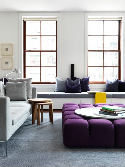 purple, Pantone, color of the year 2018, color of the year, ultra violet, interior design, ottoman