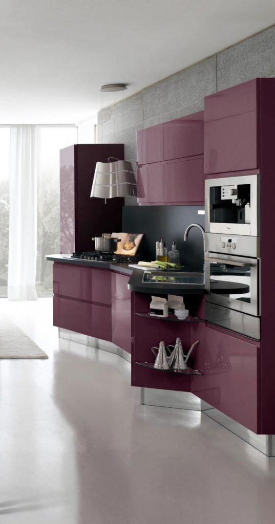 purple, Pantone, color of the year 2018, color of the year, ultra violet, interior design, purple cabinets, acrylic cabinets