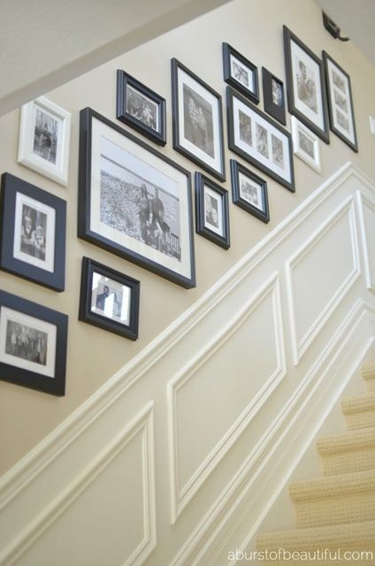 wainscoting, chair rail, minimalist, panel moulding, panel molding, trim,