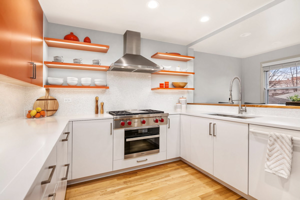 Dream, luxury kitchen design with open shelving