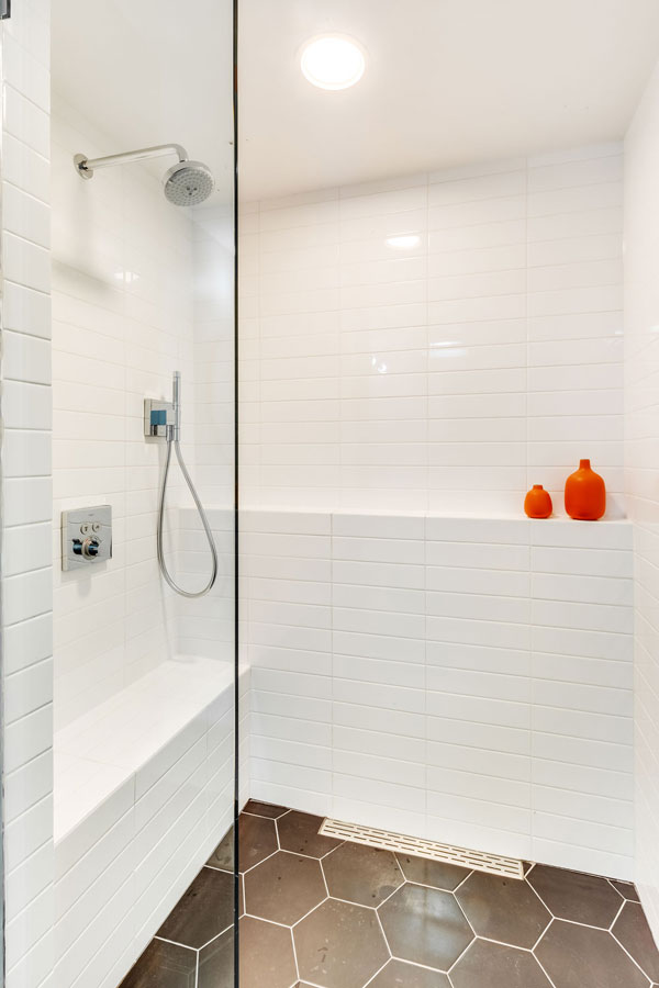 custom walk in shower remodel, Chicago interior designers