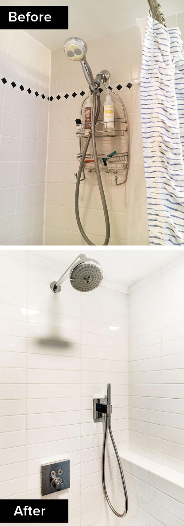 custom bathroom remodel, walk-in shower fixtures