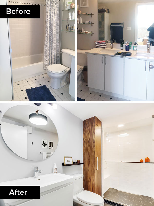 contemporary bathroom remodel, Chicago