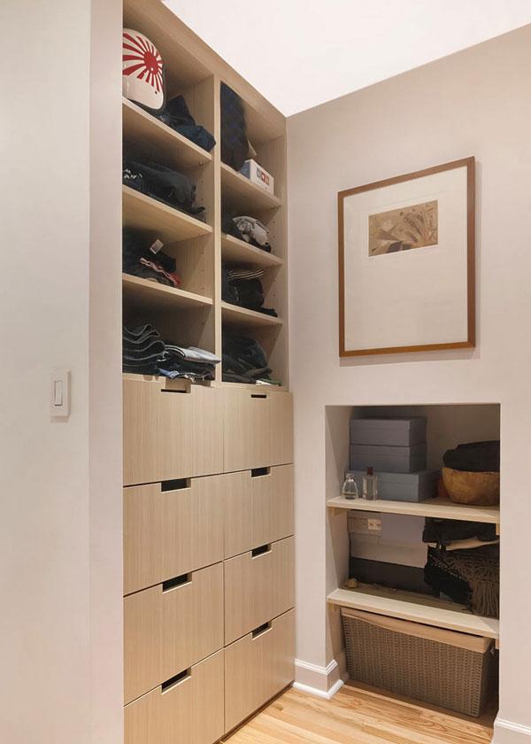 custom built-in closet organization