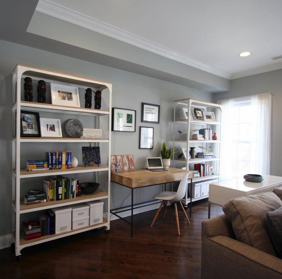 open home office design