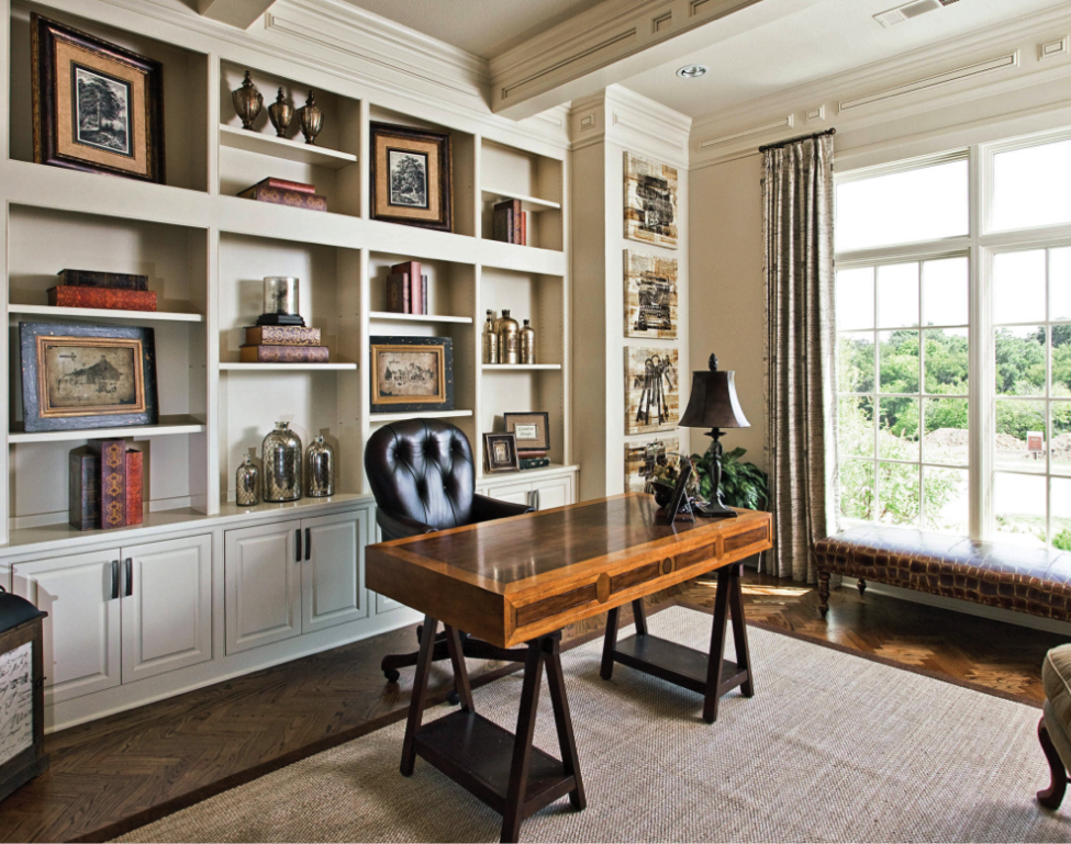traditional woodwork and furnishings home office